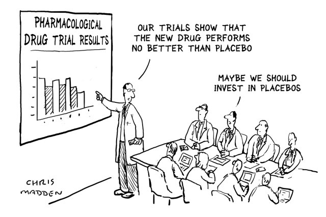 Cartoon – Pharmacological Drug Trial Results | HENRY KOTULA