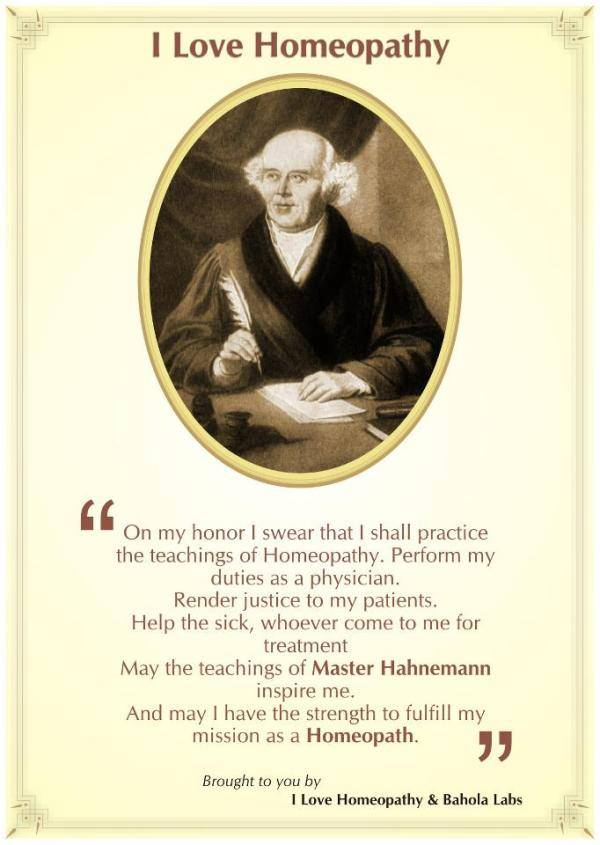 Hahnemannian oath
