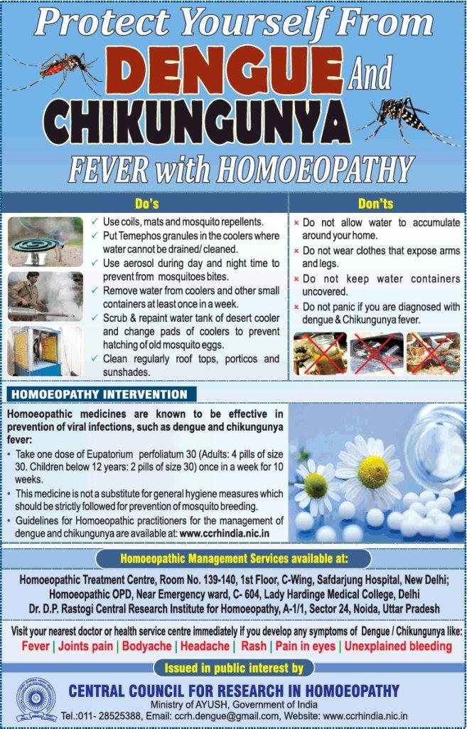 Dengue and Chikungunya Fever with Homeopathy