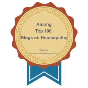 Among Top 100 blogs on Homeopathy