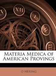 materia medica of american provings hering